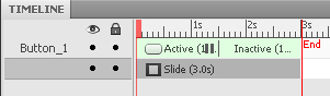 A button on the timeline in Adobe Captivate