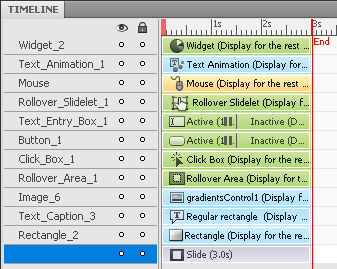 Adobe Captivate 5.5 timeline example