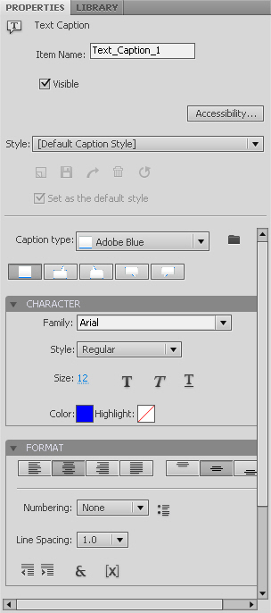 Adobe Captivate 5 Text Caption Properties