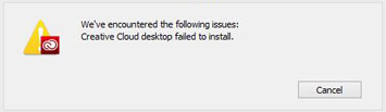 adobe cc installer failed