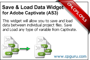 Save and Load Data Widget for Adobe Captivate