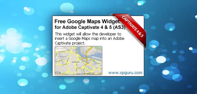 Free Google Maps Widget for Adobe Captivate