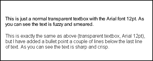 An example of fuzzy text in Captivate