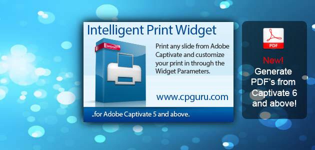 print widget for captivate | cp guru - adobe captivate widgets, Powerpoint templates