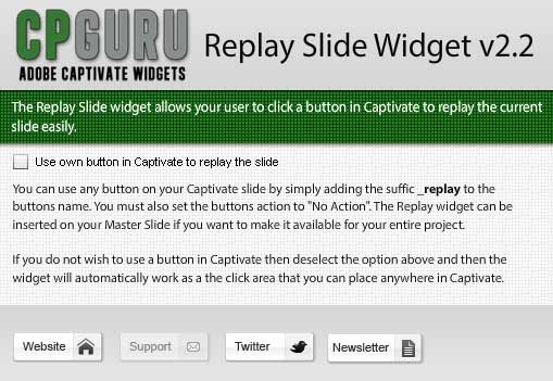 Replay Slide Widget for Adobe Captivate
