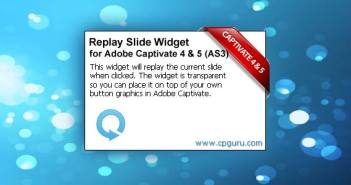 Adobe Captivate Replay Slide Widget