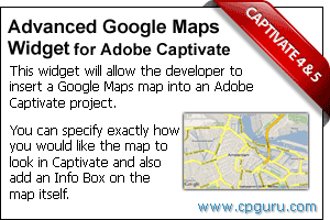 Advanced Google Maps Widget for Adobe Captivate