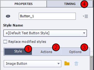 Adobe Captivate 8 object properties