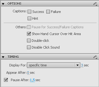 More Button options in Adobe Captivate