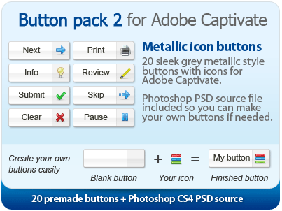 Button pack for Adobe Captivate