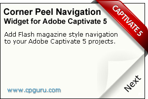Corner Peel Navigation Widget for Adobe Captivate