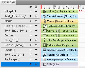 Adobe Captivate 5.5 timeline example
