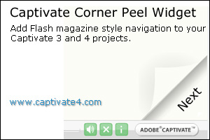 Corner Peel Navigation for Adobe Captivate