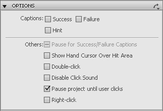 Click box options in Adobe Captivate