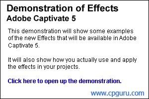 Adobe Captivate 5 - Effects presentation