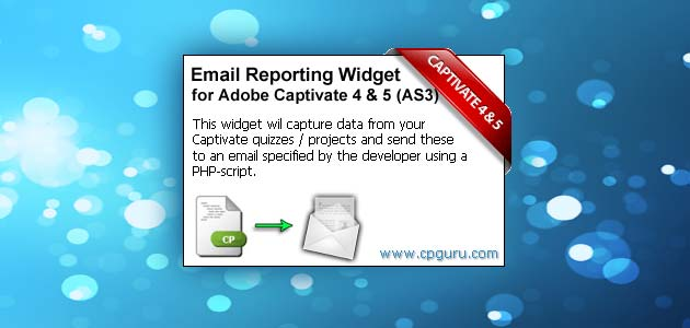 Email Reporting Widget for Adobe Captivate (AS3) | CP Guru - Adobe ...