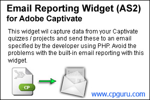 Email Reporting Widget for Adobe Captivate 4