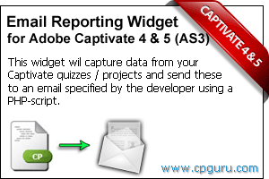 AS3 Email Reporting Widget for Adobe Captivate 4 and 5