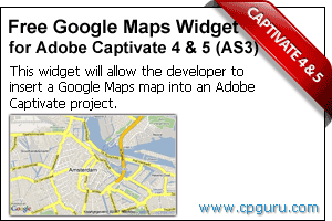 Free Google Maps Widget for Adobe Captivate