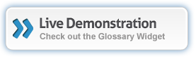 Live demonstration of the Glossary Widget