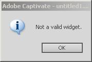 Not a valid Widget