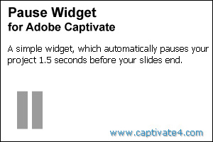 Pause Widget for Adobe Captivate