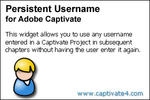 Persistent Username Widget for Adobe Captivate