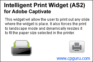 Intelligent Print Widget for Adobe Captivate 4