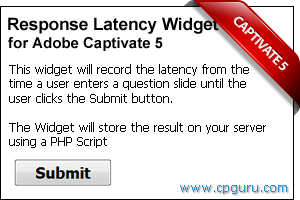 Response Latency Widget for Adobe Captivate