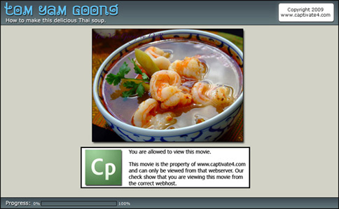 Screenshot of the Thai Soup tutorial
