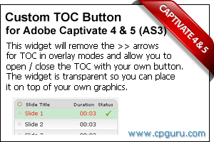 Custom TOC Button Widget for Adobe Captivate