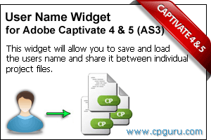Save and Load Username Widget for Adobe Captivate