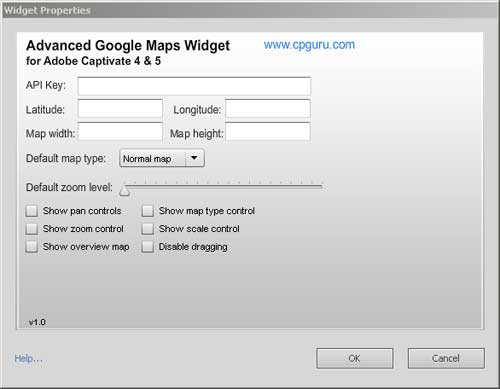 Advanced Google Maps Widget Properties