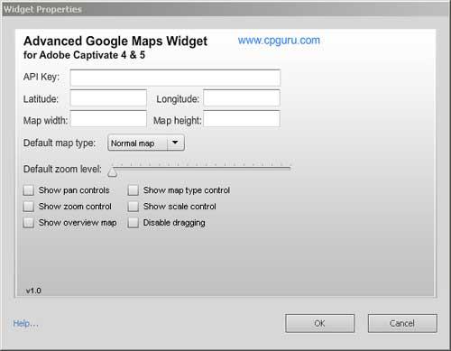 Advanced Google Maps Widget Properties